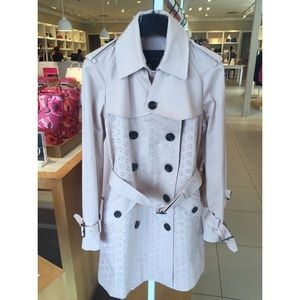 NWT Coach Eyelet Trench Coat Baby Pink So Cute!